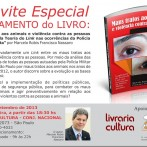 """Lançamento do livro """"Maus tratos aos animais e violência contra as pessoas"""" dia 16/09"""
